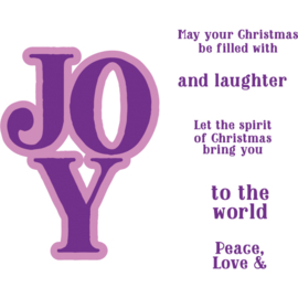 Clearstamp & Snijmal Kerstwoorden - Joy