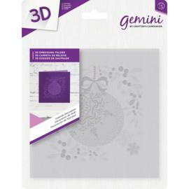 Gemini 15x15 cm 3D-embossingfolder - Yuletide Decoratie