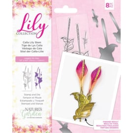 Lily Collection - Clearstamp&snijmallen set - Calla Lily Stem
