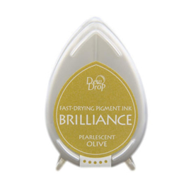 Dew Drop Brillance Ink Pad Pearlscent Olive