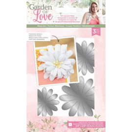 Garden of Love - Metalen snijmal - 3D Layered Daisy