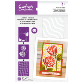 CC - Layering Floral Stencil - Radiant Roses
