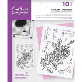CC Clearstamp - Classic Rose