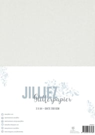 Jilliez A4 Glitterpapier wit