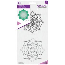 Gemini Mandala Clearstamp & Snijmal - Aura