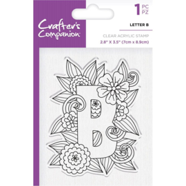 Crafter's Companion Clear stempel alfabet letter B