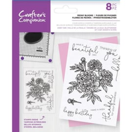 CC Clearstamp - Peony Blooms