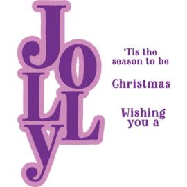 Clearstamp & Snijmal Kerstwoorden - Jolly