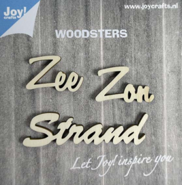 Woodsters- Houten figuren - Zon/Zee/Strand