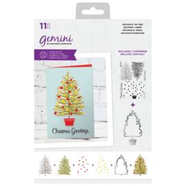 Clearstamp & Snijmal Kerst - Decorate the Tree (Versier de boom)