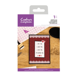 Crafter's Companion Clear stempel - Keeping You