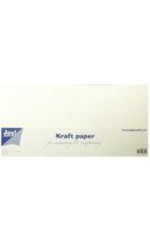 Kraft papier Scrapformaat 15 x 30 cm wit