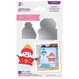 Gemini - Dubbelzijdige snijmal - Mr Snowman