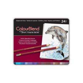 Colourblend Potloden a 24 stuks - Shade and Tone(Schaduw en Kleur)