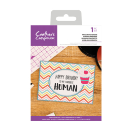 Crafter's Companion Clear stempel - Favourite Human