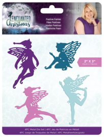Enchanted Christmas - Metalen snijmal - Festive Fairies