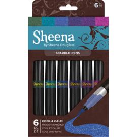 Sheena Douglass Sparkle 6 Pen Sets - Cool and Calm