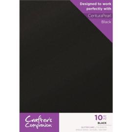 Crafter's Companion Glitter karton A4 a 10 vel - Zwart