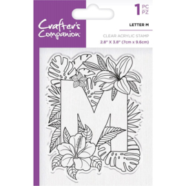 Crafter's Companion Clear stempel alfabet letter M