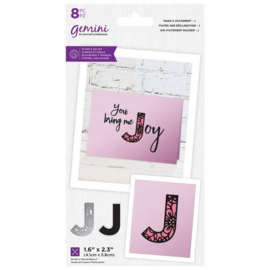 Gemini Make A Statement Snijmal&stempel set - J