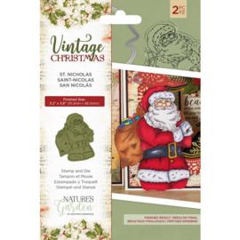 Vintage Christmas Snijmal/stempel set - St.Nicholas