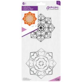 Gemini Mandala Clearstamp & Snijmal - Zen
