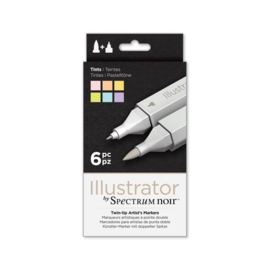 Spectrum Noir Illustrator 6pk - Tinten