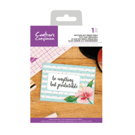 Crafter's Companion Clear stempel - Anything But Predictable