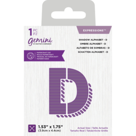 Gemini Expressions snijmal - Shadow Alphabet D