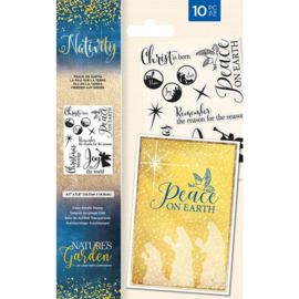 Nativity clearstamp set - Come Let Us Adore Him