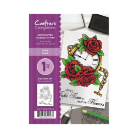 Crafter's Companion A6 unmounted rubberen stempel - Take Time