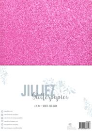 Jilliez A4 Glitterpapier Fuchsia