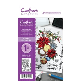 Crafter's Companion A6 unmounted rubberen stempel - Floral Festivities