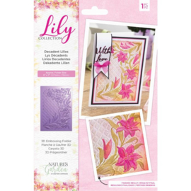Lily Collection - 3D Embossing Folder - Decadent Lilies