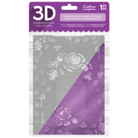 "Gemini 5""x7"" cm 3D-embossingfolder - Rose Bouquet"