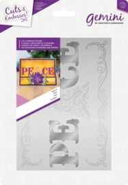 Gemini 5x7 Cut and Emboss folder - Kerst - Peace