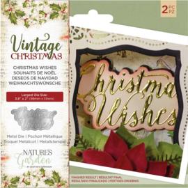 Vintage Christmas snijmal - Christmas Wishes