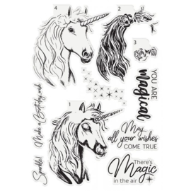 Crafter's Companion Layered clearstamp - Magical Unicorn