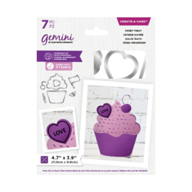 Gemini Shaped Create a Card snijmal - Sweet Treat