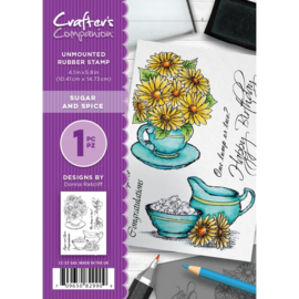 Crafter's Companion A6 unmounted rubberen stempel - Sugar and Spice