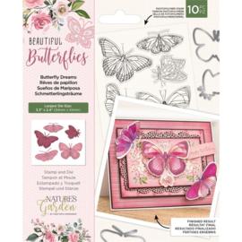 Beautiful Butterflies - Clearstamp&snijmallen set - Butterfly Dreams