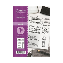Crafter's Companion A6 unmounted rubberen stempel - In full Bloom