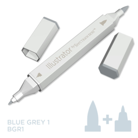 Spectrum Noir Illustrator losse pennen - Blue Grey (Blauwgrijs BGR1)