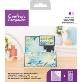 CC - Stencil/Clearstamp set - Make a Wish