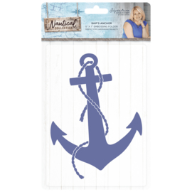 Sara Signature Collection Nautical - 5x7 Embossing folder - Ship's Anchor
