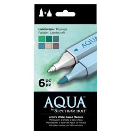 Spectrum Noir Aqua Markers 6 Pen Sets - Landschap
