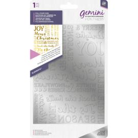 Gemini Folie Stamp mal - Elementen - Kerst woorden achtergrond
