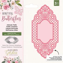 Beautiful Butterflies - Metalen snijmal - Intricate Trellis