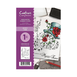 Crafter's Companion A6 unmounted rubberen stempel - Music Time
