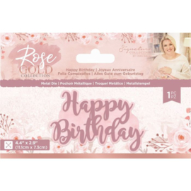 Rose Gold Metalen snijmal - Happy Birthday
